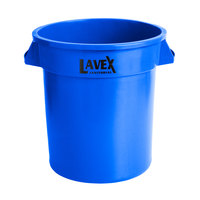 Lavex Janitorial 10 Gallon Blue Round Commercial Trash Can