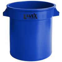 Lavex Janitorial 10 Gallon Blue Round Commercial Trash Can / Ingredient Bin