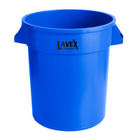 Lavex Janitorial 20 Gallon Blue Round Commercial Trash Can