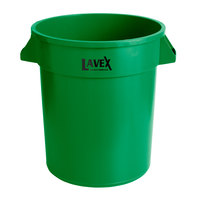 Lavex Janitorial 20 Gallon Green Round Commercial Trash Can / Ingredient Bin
