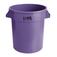 Lavex Janitorial 20 Gallon Purple Round Commercial Trash Can