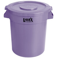 Lavex Janitorial 20 Gallon Purple Round Commercial Trash Can / Ingredient Bin