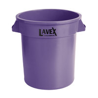 Lavex Janitorial 10 Gallon Purple Round Commercial Trash Can