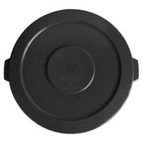 Lavex Janitorial 44 Gallon Black Round Commercial Trash Can Lid