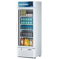 Turbo Air TGM-20SD White 27 inch Super Deluxe Single Door Refrigerated Merchandiser - 17.5 Cu. Ft.