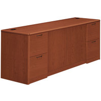 HON 10742CO 10700 Series 72 inch x 24 inch x 29 1/2 inch Cognac Laminate Full Height Pedestals Credenza with Doors