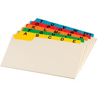 Oxford 03514 3 inch x 5 inch A - Z Assorted Color Index Card Guide