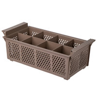Noble Products 8 Compartment Half Size Brown Flatware Rack without Handles