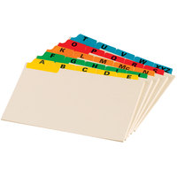 Oxford 04635EE 4 inch x 6 inch A - Z Assorted Color Index Card Guide