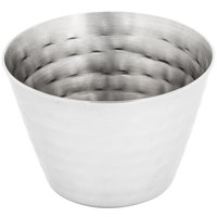 American Metalcraft HAMSC4 4 oz. Hammered Stainless Steel Round Sauce Cup