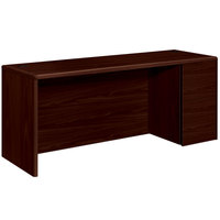 HON 10707RNN 10700 Series 72 inch x 24 inch x 29 1/2 inch Mahogany Laminate Right Full Height Pedestal Credenza