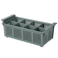 Noble Products 8 Compartment Half Size Grey Flatware Rack without Handles