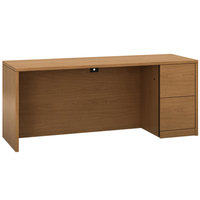 HON 105903RCC 10500 Series 72 inch x 24 inch x 29 1/2 inch Harvest Laminate Right Full Height Pedestal Credenza