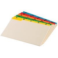 Oxford 05827 5 inch x 8 inch A - Z Assorted Color Index Card Guide