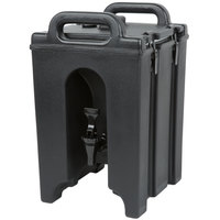 Cambro 100LCD110 Camtainers® 1.5 Gallon Black Insulated Beverage Dispenser