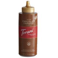 Torani 12 fl. oz. (16.5 oz.) Puremade Salted Chocolate Caramel Flavoring Sauce