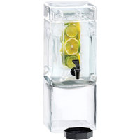 Cal-Mil 1112-1INF 1.5 Gallon Square Glass Beverage Dispenser with Infusion Chamber
