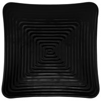 GET ML-64-BK Milano 11 3/4 inch Black Melamine Square Plate - 12/Pack