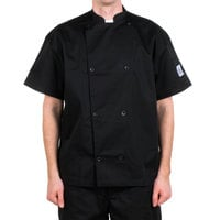 Chef Revival J005BK-2X Knife and Steel Size 52 (2X) Customizable Short Sleeve Chef Jacket