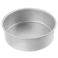 Chicago Metallic 46025 6 inch x 2 inch Glazed Aluminized Steel Round Customizable Cake Pan