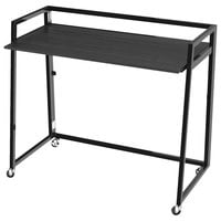 Alera ALEQAD4232EB Quick Assemble 41 3/8 inch x 20 5/8 inch x 36 5/8 inch Espresso Laminate Workstation with Black Steel Base