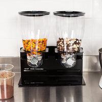 Zevro KCH-06148 Professional Black Double Canister Dry Food Dispenser