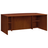 HON BL2111BFA1A1 Basyx BL Series 72 inch x 42 inch x 29 inch Medium Cherry Laminate Breakfront Desk Shell with Bow Front