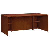 HON BL2101BFA1A1 Basyx BL Series 72 inch x 36 inch x 29 inch Medium Cherry Laminate Breakfront Desk Shell