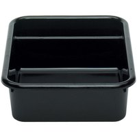Cambro 1621CBR110 Cambox 21 inch x 16 inch x 5 inch Black Plastic Regal Bus Box