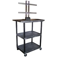 Luxor LE48WTUD Flat Panel TV Cart with 3 Shelves for Up to 50 inch Screens