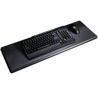 HON 4022P 21 1/2 inch x 10 inch Black Laminate Slide-Away Keyboard Platform