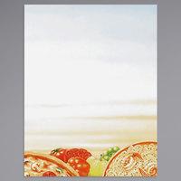 8 1/2 inch x 11 inch Menu Paper - Italian Themed Pasta Design Right Insert - 100/Pack