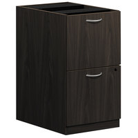 HON BL2163ESES Basyx BL Series 15 5/8 inch x 21 3/4 inch x 27 3/4 inch Espresso Laminate Two Drawer Pedestal File