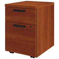 HON 105106CO 10500 Series 15 3/4 inch x 18 7/8 inch x 21 7/8 inch Cognac Laminate One File and One Box Drawer Mobile Pedestal File