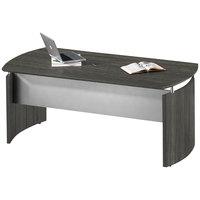 Mayline MNDBLGS Medina Gray Steel Laminate Curved Desk Base - 72 inch x 36 inch x 29 1/2 inch