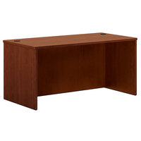 HON BL2103A1A1 Basyx BL Series 60 inch x 30 inch x 29 inch Medium Cherry Laminate Rectangular Desk Shell