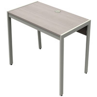 Linea Italia KLIN740ASH Klin 33 inch x 19 inch x 30 inch Ash Laminate Desk with Silver Steel Frame