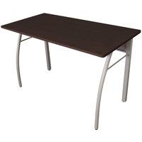 Linea Italia TR733MOC Trento Mocha / Gray Rectangular Desk - 47 1/4 inch x 23 5/8 inch x 29 1/2 inch