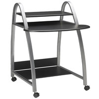 Mayline 971ANT Eastwinds Anthracite Laminate Mobile Arch Computer Cart - 31 1/2 inch x 34 1/2 inch x 37 inch
