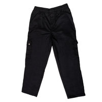 Chef Revival P024BK Size M Black Chef Cargo Pants - Poly-Cotton