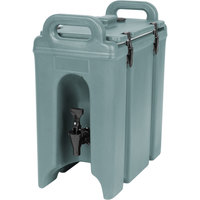 Cambro 250LCD401 Camtainer 2.5 Gallon Slate Blue Insulated Beverage Dispenser