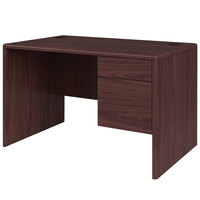 HON 107885RNN 10700 Series 48 inch x 30 inch x 29 1/2 inch Mahogany Laminate Right 3/4 Height Pedestal Desk