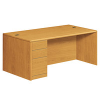 HON 10788LCC 10700 Series 72 inch x 36 inch x 29 1/2 inch Harvest Laminate Left Full Height Pedestal Desk