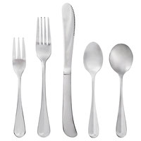 Acopa Midland 18/0 Stainless Steel Medium Weight Flatware Set with Service for 12 - 60/Pack