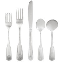 Acopa Atglen 18/0 Stainless Steel Medium Weight Flatware Set with Service for 12 - 60/Pack