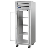 Traulsen G16015P Solid Front, Glass Back Door 1 Section Pass-Through Refrigerator - Left / Right Hinged Doors