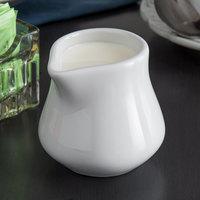 Tuxton BPR-0352 DuraTux 3.5 oz. Bright White China Creamer - 12/Case