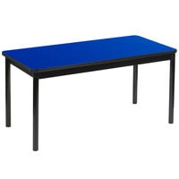 Correll LT2472-37 24 inch x 72 inch Blue Lab Table - 36 inch Height