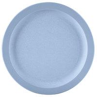 Carlisle PCD20959 Slate Blue 9 inch Polycarbonate Narrow Rim Plate - 48/Case
