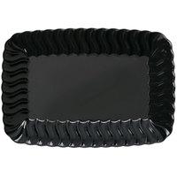 Fineline Flairware 257-BK Black 5 inch x 7 inch Plastic Snack Tray - 252/Case